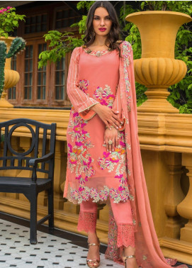 Kalyan By ZS Embroidered Chiffon Unstitched 3 Piece Suit KLY20C 10 - Spring / Summer Collection
