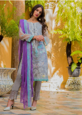 Kalyan By ZS Embroidered Organza Unstitched 3 Piece Suit KLY20C 2 - Spring / Summer Collection