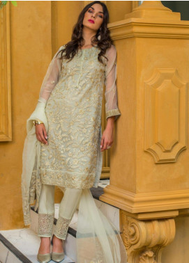 Kalyan By ZS Embroidered Organza Unstitched 3 Piece Suit KLY20C 4 - Spring / Summer Collection
