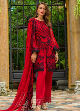 Kalyan By ZS Embroidered Chiffon Unstitched 3 Piece Suit KLY20C 5 - Spring / Summer Collection