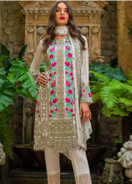 Kalyan By ZS Embroidered Chiffon Unstitched 3 Piece Suit KLY20C 6 - Spring / Summer Collection