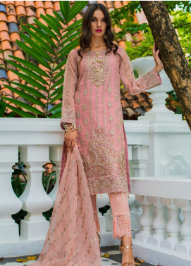 Kalyan By ZS Embroidered Organza Unstitched 3 Piece Suit KLY20C 8 - Spring / Summer Collection