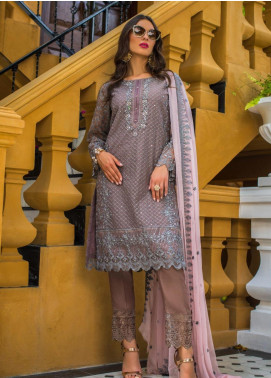 Kalyan By ZS Embroidered Organza Unstitched 3 Piece Suit KLY20C 9 - Spring / Summer Collection