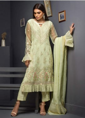 Kalyan By ZS Embroidered Chiffon Unstitched 3 Piece Suit KLY19C 05 - Festive Collection