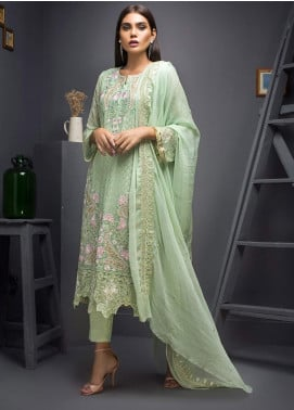 Kalyan By ZS Embroidered Chiffon Unstitched 3 Piece Suit KLY19C 06 - Festive Collection