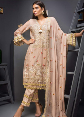 Kalyan By ZS Embroidered Chiffon Unstitched 3 Piece Suit KLY19C 07 - Festive Collection
