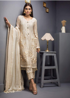 Kalyan By ZS Embroidered Chiffon Unstitched 3 Piece Suit KLY19C 08 - Festive Collection