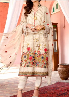 Kalyan by ZS Textile Embroidered Chiffon Unstitched 3 Piece Suit KLY20CE 01 - Luxury Collection
