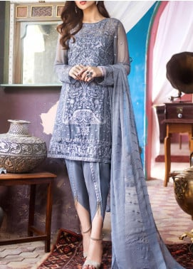 Kalyan by ZS Textile Embroidered Chiffon Unstitched 3 Piece Suit KLY20CE 03 - Luxury Collection
