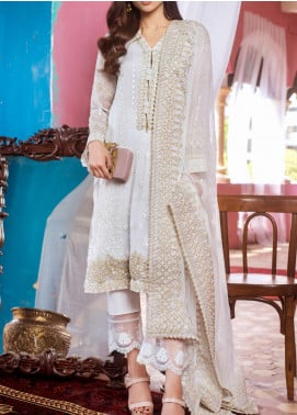 Kalyan by ZS Textile Embroidered Chiffon Unstitched 3 Piece Suit KLY20CE 04 - Luxury Collection
