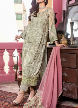 Kalyan by ZS Textile Embroidered Chiffon Unstitched 3 Piece Suit KLY20CE 08 - Luxury Collection