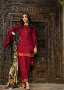 Kalyan By ZS Embroidered Jacquard Unstitched 3 Piece Suit KLY20D 02 - Summer Collection
