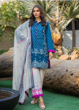 Kalyan By ZS Embroidered Jacquard Unstitched 3 Piece Suit KLY20D 04 - Summer Collection