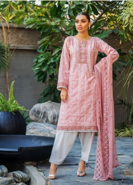 Kalyan By ZS Embroidered Jacquard Unstitched 3 Piece Suit KLY20D 06 - Summer Collection