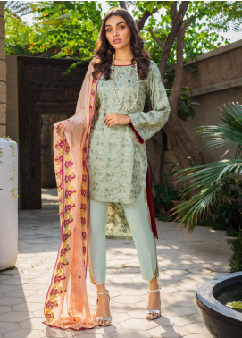 Kalyan By ZS Embroidered Jacquard Unstitched 3 Piece Suit KLY20D 10 - Summer Collection