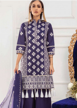 Kalyan By ZS Embroidered Lawn Unstitched 3 Piece Suit KED19EC 03A - Exclusive Collection