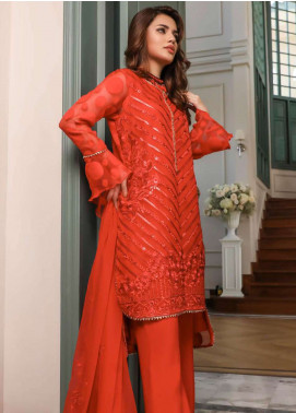 Kalyan By ZS Embroidered Organza Unstitched 3 Piece Suit KLY18C 09 - Luxury Collection