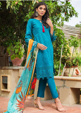 Kalyan By ZS Embroidered Schiffli Unstitched 3 Piece Suit KLY19-F4 03 - Festive Collection