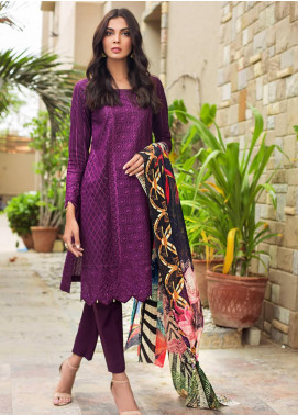 Kalyan By ZS Embroidered Schiffli Unstitched 3 Piece Suit KLY19-F4 08 - Festive Collection