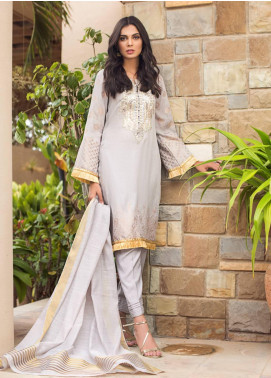 Kalyan By ZS Embroidered Jacquard Unstitched 3 Piece Suit KLY19-F4 10 - Festive Collection