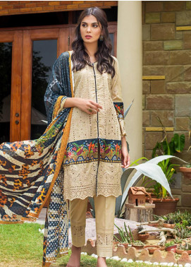 Kalyan By ZS Embroidered Schiffli Unstitched 3 Piece Suit KLY19-F4 11 - Festive Collection