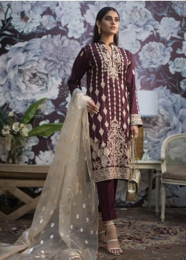Kalyan By ZS Embroidered Jacquard Unstitched 3 Piece Suit KLY19MS 01 - Mid Summer Collection