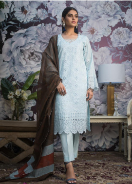 Kalyan By ZS Embroidered Schiffli Unstitched 3 Piece Suit KLY19MS 02 - Mid Summer Collection