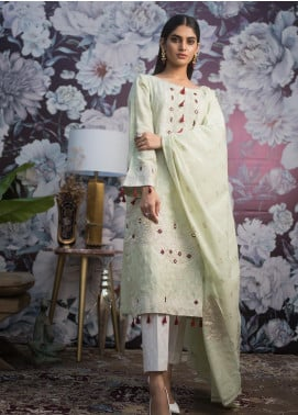 Kalyan By ZS Embroidered Schiffli Unstitched 3 Piece Suit KLY19MS 03 - Mid Summer Collection
