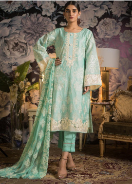 Kalyan By ZS Embroidered Jacquard Unstitched 3 Piece Suit KLY19MS 07 - Mid Summer Collection