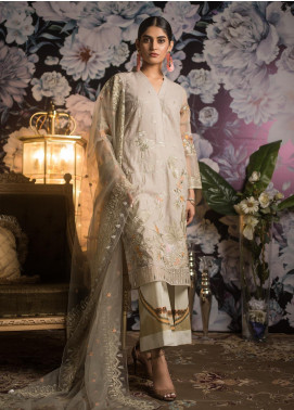 Kalyan By ZS Embroidered Schiffli Unstitched 3 Piece Suit KLY19MS 08 - Mid Summer Collection