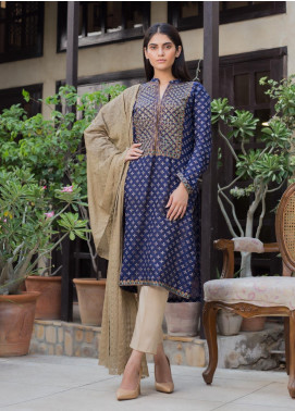 Kalyan By ZS Embroidered Jacquard Unstitched 3 Piece Suit KLY19MS 09 - Mid Summer Collection