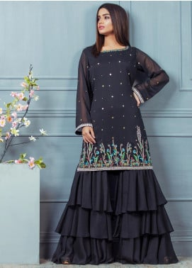 Kashbia Embroidered Chiffon Stitched 2 Piece 8001-KB-009