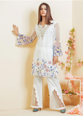 Kashbia Embroidered Chiffon Stitched 2 Piece 8001-KB-014