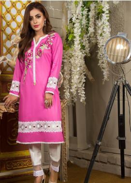 Kashbia Embroidered Cotton Stitched Kurti 8001-KB-029