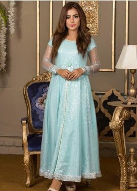 Kashbia Embroidered Organza Stitched 2 PIece 8001-KB-030