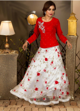 Kashbia Embroidered Organza Stitched 2 PIece 8001-KB-031