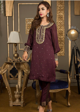 Kashbia Embroidered Chiffon Stitched 2 PIece 8001-KB-033