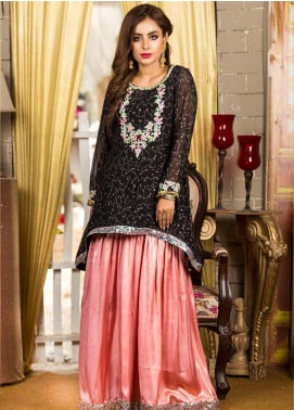 Kashbia Embroidered Net Stitched 2 PIece 8001-KB-036