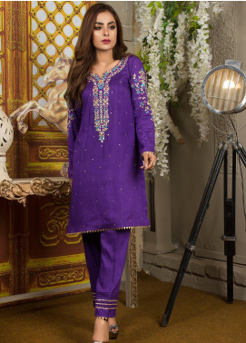 Kashbia Embroidered Organza Stitched 2 PIece 8001-KB-037