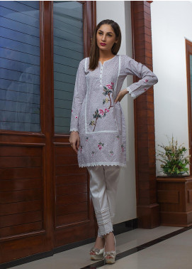 Kashbia Embroidered Cotton Stitched Kurti 8001-KB-042