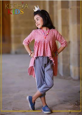 Keshia Cotton Western Style Girls Kurtis -  KD-015 Rosemary