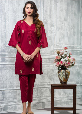 Keshia Embroidered Cotton Stitched Kurtis Aafreen