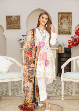 Khaka by Puri Fabrics Embroidered Leather Peach Unstitched 3 Piece Suit KH20P 04 - Winter Collection
