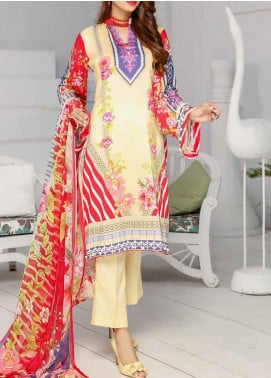 Khaka by Puri Fabrics Embroidered Viscose Unstitched 3 Piece Suit PF20KV-2 D-07 - Festive Collection