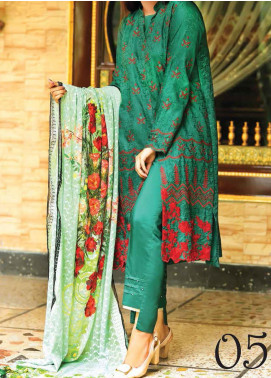 Khaka by Puri Fabrics Embroidered Viscose Unstitched 3 Piece Suit KH20C 05 - Winter Collection
