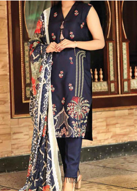 Khaka by Puri Fabrics Embroidered Viscose Unstitched 3 Piece Suit KH20C 07 - Winter Collection