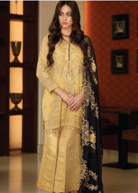 Khaka by Puri Fabrics Embroidered Chiffon Unstitched 3 Piece Suit KH20PF 10 - Luxury Collection