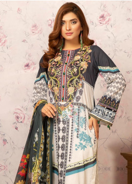 Khas Embroidered Lawn Unstitched 3 Piece Suit KHS20SV KC-5081 Cinnamon - Spring / Summer Collection