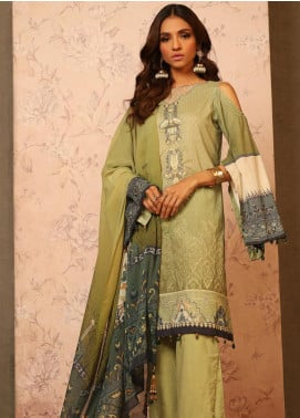 Khas Embroidered Lawn Unstitched 3 Piece Suit KHS20SV KC-5082 Wenling Mauve - Spring / Summer Collection