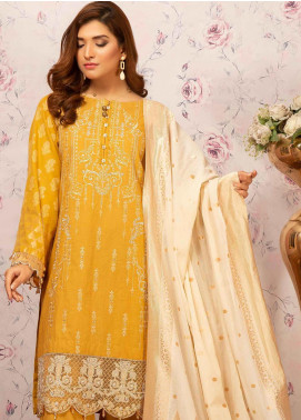 Khas Embroidered Cotton Unstitched 3 Piece Suit KHS20SV KJE-19001 Summer Bounty - Spring / Summer Collection